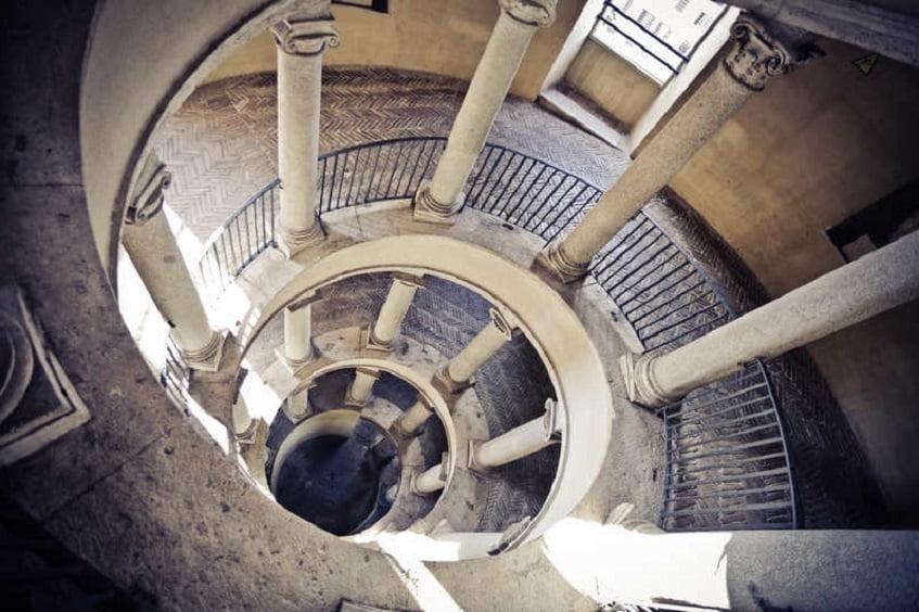 Лестница Браманте в Ватикане - фото