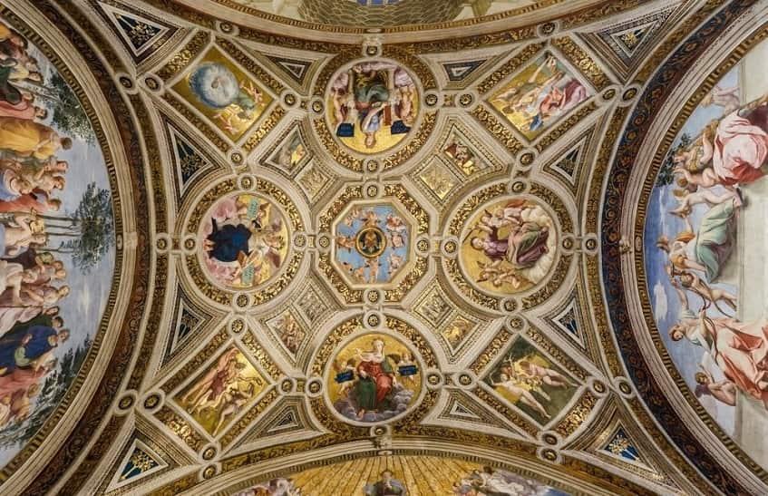 Потолок станцы делла Сеньятура Ватиканского музея - фото