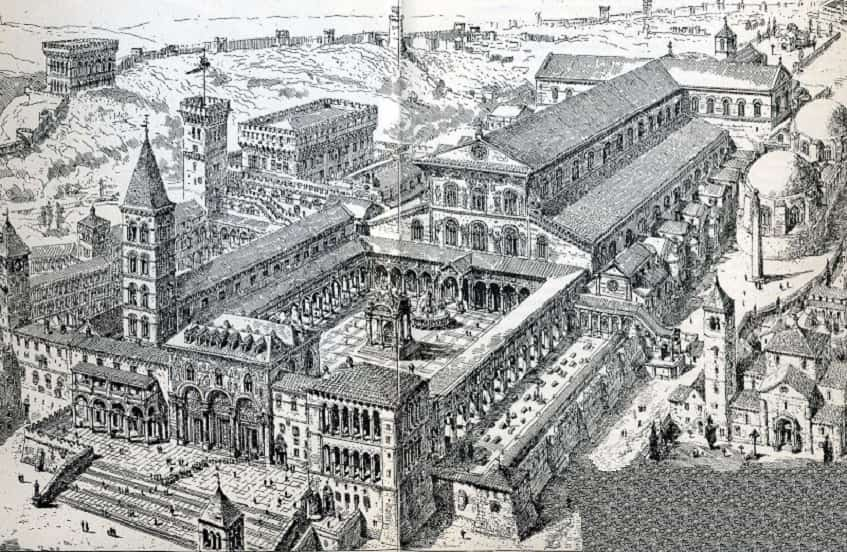 Облик собора Святого Петра в 1450 году - фото