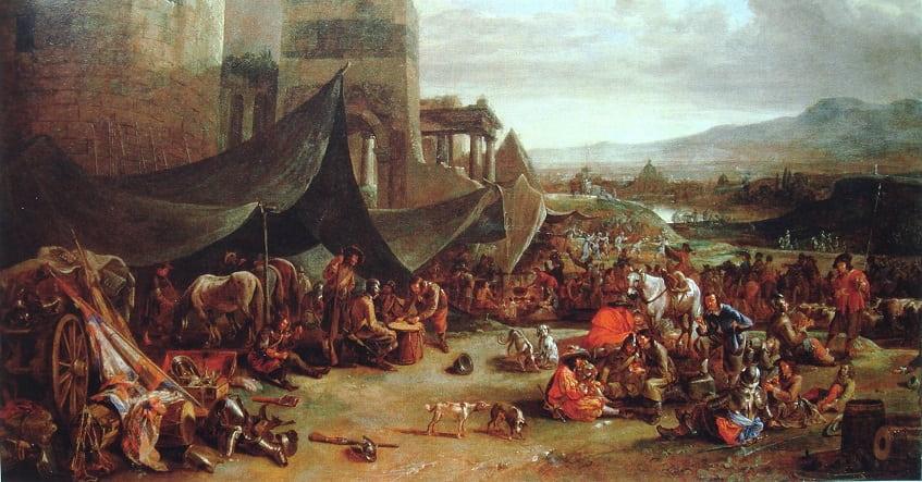 Римская резня в 1527 году, художник Иоганн Лингельбах - картина