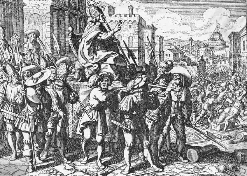 Швейцарская гвардия в средние века - фото