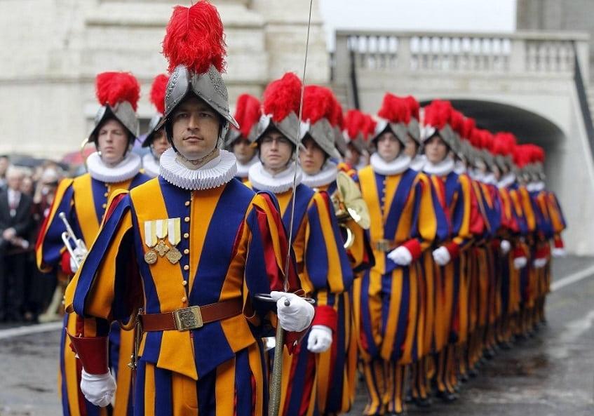 Швейцарская гвардия Ватикана - фото