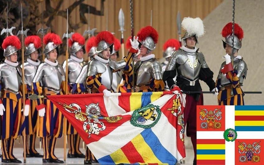 Знамя папской гвардии - фото