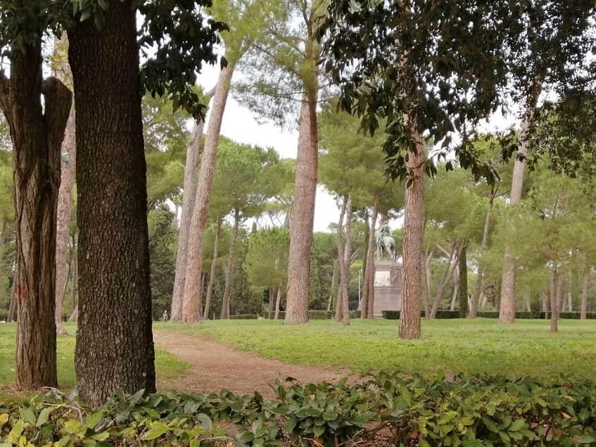 Парковая зона Виллы Боргезе - фото