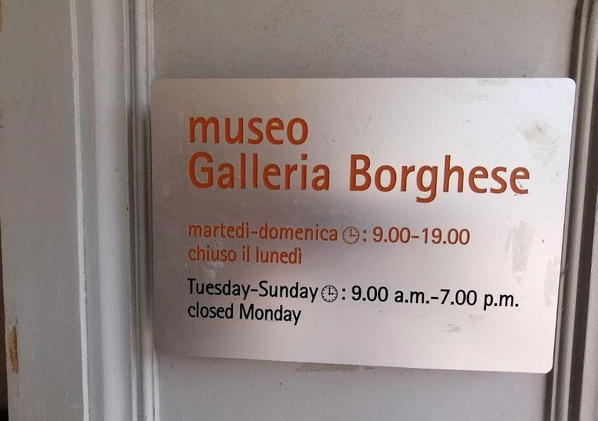 Время работы галереи Боргезе - фото