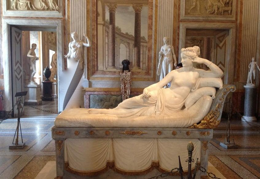 Зал Паолины скульптура Антонио Кановы «Полина Боргезе Бонапарт в образе Венеры» - фото