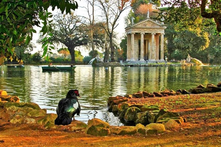 Городской парк виллы Боргезе - фото