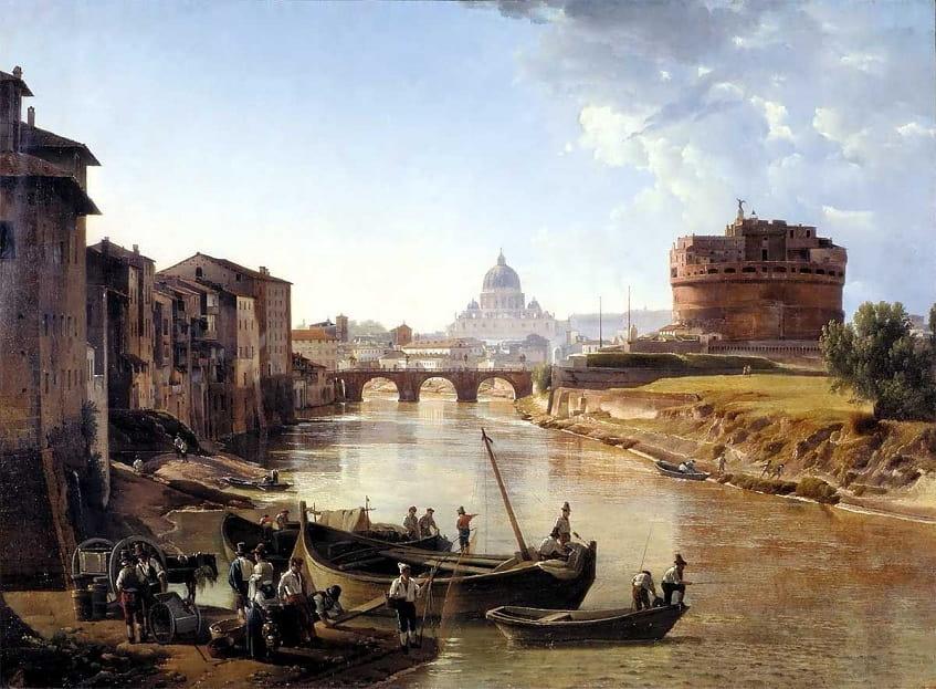 «Новый Рим. Замок Святого Ангела» — С. Ф. Щедрин - холст
