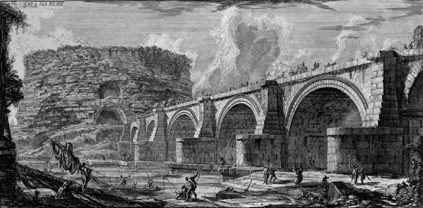 Повреждённая крепость в 452 году - гравюра