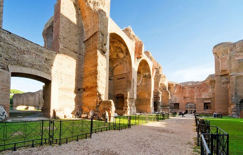 Общественные бани в древнем риме