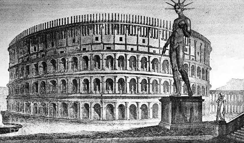 Бронзовая статуя Нерона - гравюра