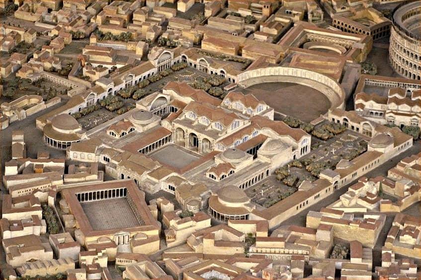 Макет терм Траяна - фото