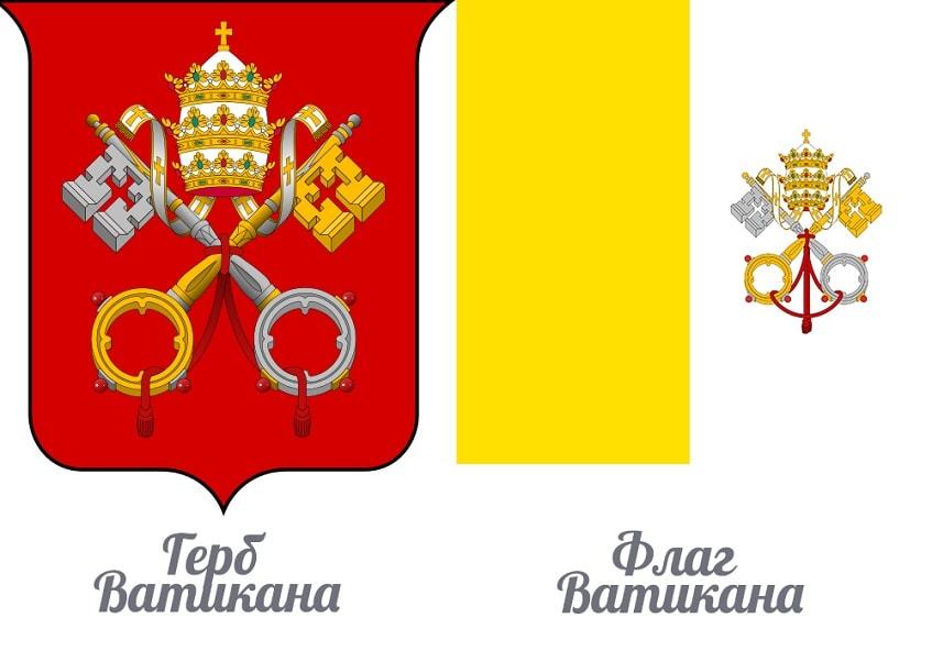 Герб и флаг Ватикана - иллюстрация