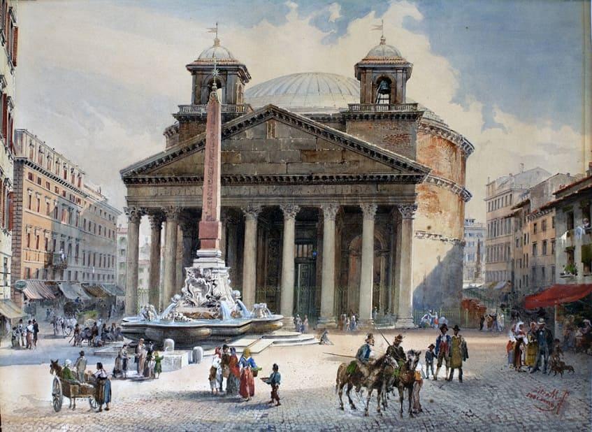 Храм всех Богов в период Средневековья - иллюстрация