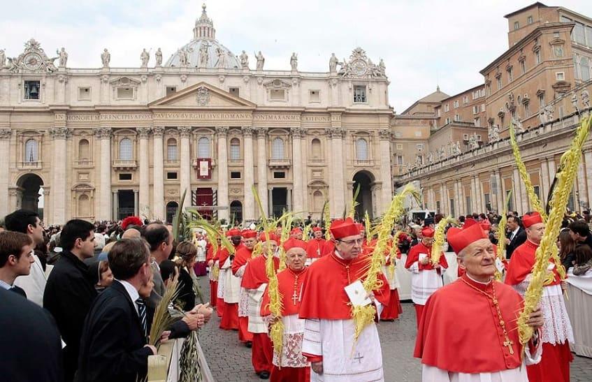 Пальмовое воскресенье в Ватикане - фото