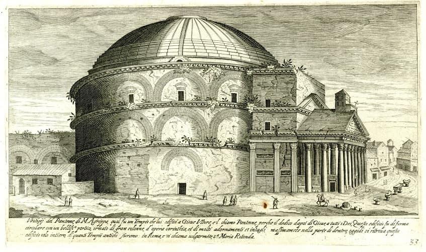 Пантеон во времена Античности - иллюстрация