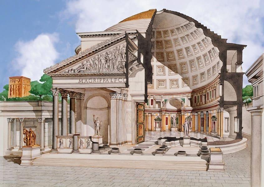Реконструкция пантеона - иллюстрация