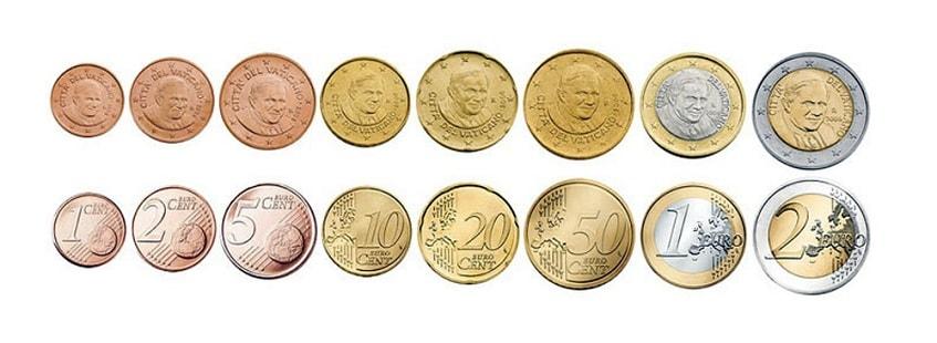 Собственные монеты Ватикана - фото