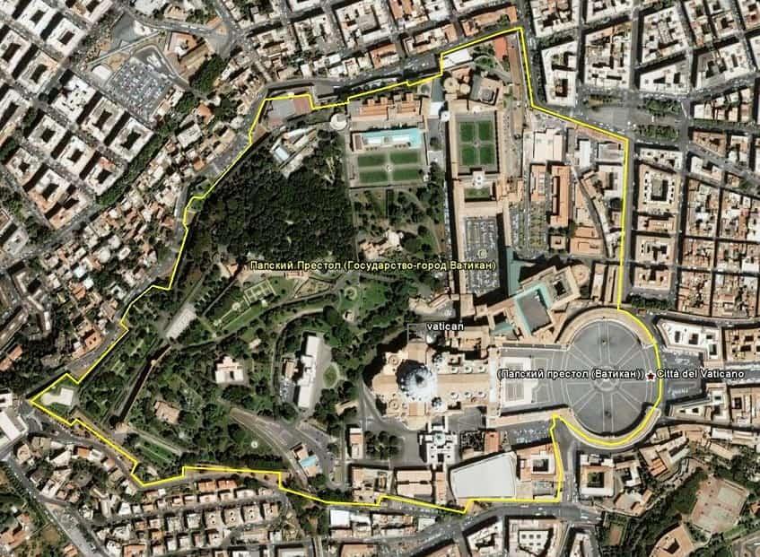Территория Ватикана - фото