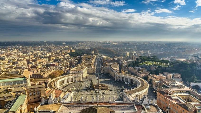 Вид с купола Собора Святого Петра - фото