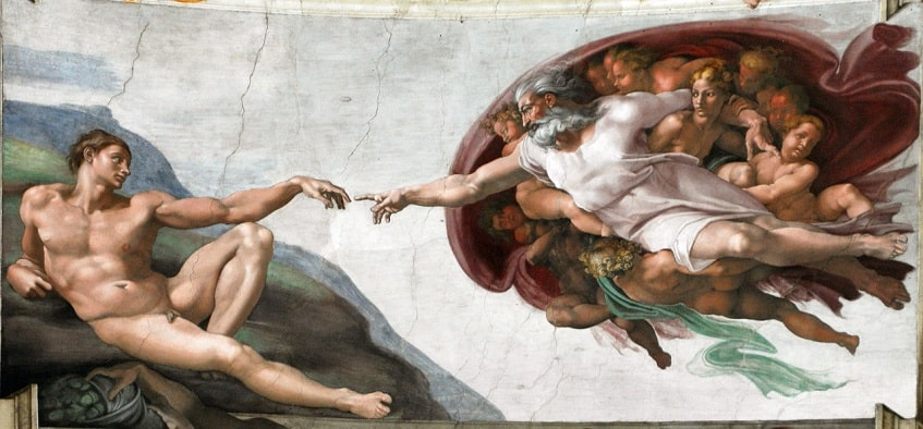 """Сотворение Адама"" - фреска"