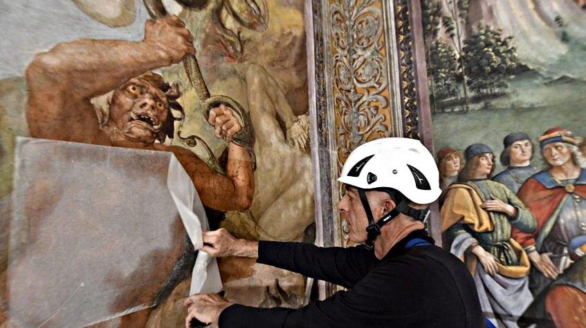 Реставрация Сикстинской капеллы - фото