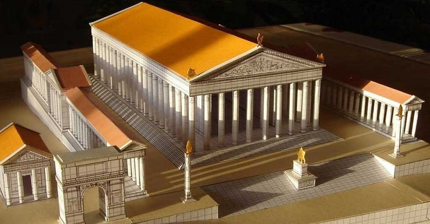 Храм Венеры и Ромы - иллюстрация