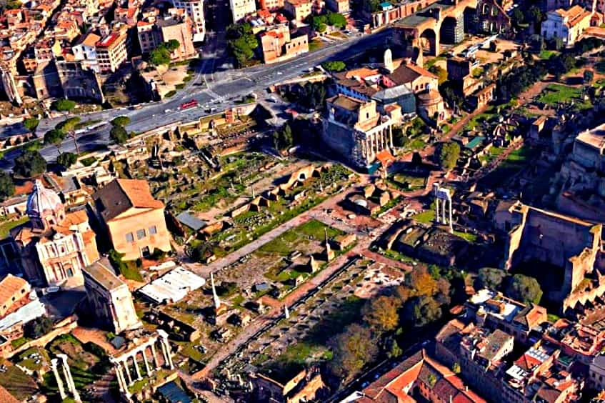 Римский форум с высоты - фото
