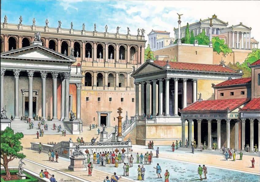 Сердце Древнего Рима в древности - иллюстрация