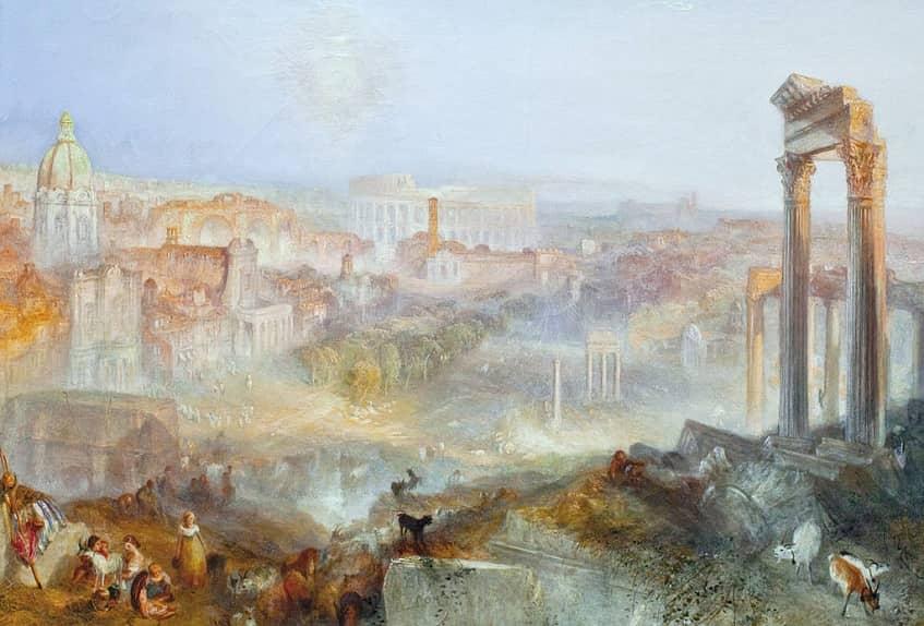 Современный Рим — Кампо Ваччино - картина
