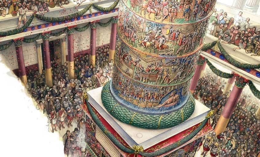 Праздничное открытие монумента - иллюстрация