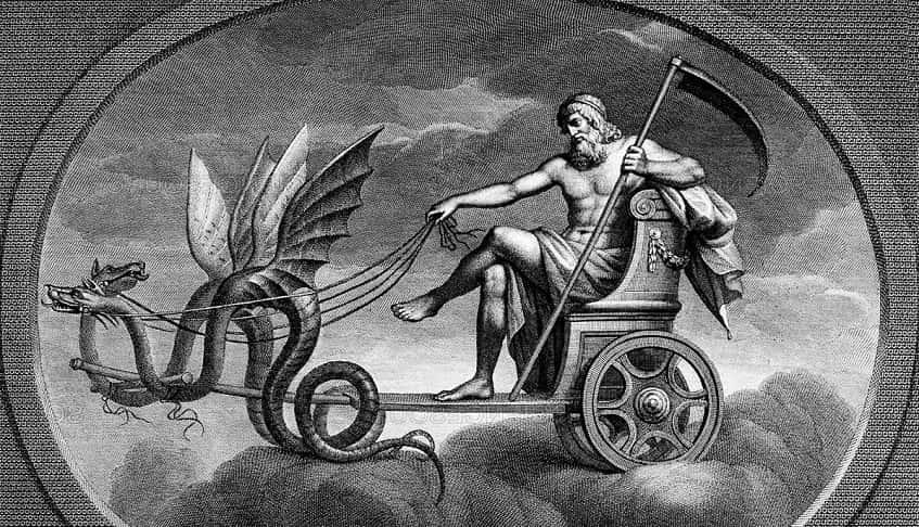 Бог Сатурн - иллюстрация